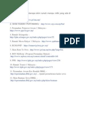 Ini Senarai Antara Beberapa Skim Rumah Mampu Milik Yang Ada Di Malaysia Share 1 Pr1ma 2 Skim Rumah Pertamaku