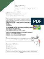 Marilyn Guía de apoyo unidad I  Fuerza y movimiento Ciencias 4° basicos