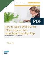 HTML webgui Fiori