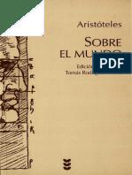 Aristoteles - Sobre El Mundo - Bilingue