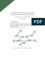 Configuracion Topologia de Red Con Dos Proveedores de Internet