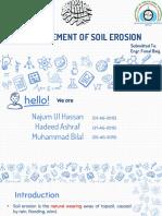 Measurment of Soil Erosion