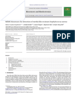 MEMS Biosensors for Detection of Methicillin Resistant Staphylococcus Aureus