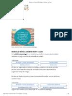 Modelo de Relatório de Estágio – Modelos de Carta