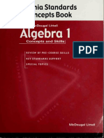 Algebra 1. [Electronic Resource] Concepts and Skills