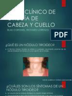 Caso Clínico de Cirugía de Cabeza y Cuello