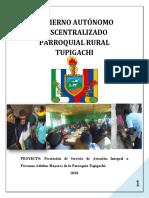 Proyecto de Atención Integral Al Adulto Mayor Parroquia Tupigachi 2018
