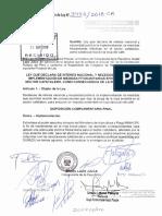 Ley Que Declara de Interés Nacional y Necesidad Pública La Implementación de Medidas Fitosanitarias Efectivas en El Sector Cafetalero, Como Consecuencia de La Roya Del Café.