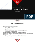 Fall 2018_ Cover Letter Workshop