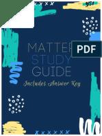 Matter Study Guide and Answer Key