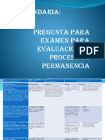 Examen Secundaria