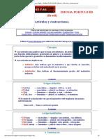 El Liceo Digital - IDIOMA PORTUGUÉS (Brasil) - Artículos y Contracciones