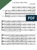 Game of Thrones (Main Titles) - Cuarteto de Cuerdas