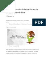 fundación de México