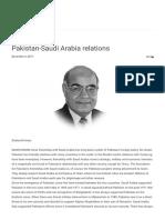 Pakistan-Saudi Arabia Relations – Daily Pakistan Observer –