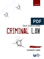 Card Cross Jones Criminal Law