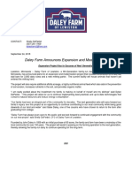 Media Release - Daley Farm of Lewiston Expansion