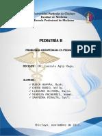Problemas Ortopedicos en Pediatria