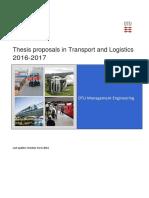 Transport and Logistics Thesis Proposals 2016 2017 271016 v1