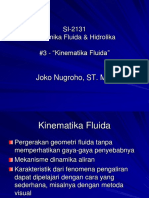 SI-2131 #3 Kinematika Fluida