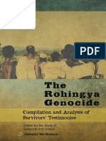 The Rohingya Genocide - Compilation and Analysis of Survivors' Testimonies