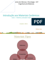 Aula 1 Introdução Aos Materiais Cerâmicos 2018-2