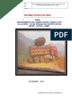 Informe Tecnico de ELIMINACION de material excedente
