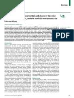 Idiopathic RBD,DX, Manejo y Neuroproteccion LANCET
