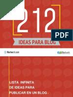 Ideas Para Posteos en El Blog