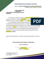 CARTA DE LIBERACIÓN DE TRABAJO RECEPCIONAL