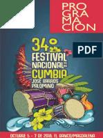 Programación Festival de la Cumbia 2018