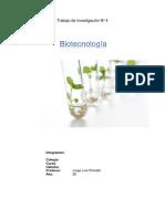 Trabajo Investigación - Biotecnologia