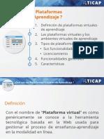 Plataformas Virtuales  de Aprendizaje- TICAP
