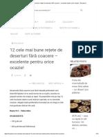 12 Cele Mai Bune Rețete de Deserturi Fără Coacere - Excelente Pentru Orice Ocazie! - Bucatarul
