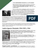 Presidentes de El Salvador Desde 1932 Hasta La Actualidad