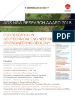 20180711 AGS NSW SYD NSW Research Award 2018 Event Flyer