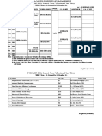 Provisional Time Table - PGDM (2009-11)-V (for 5-8 Oct 2010)