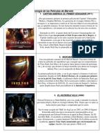 Orden Cronológico Películas de Marvels