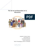 Rol de Los Profesionales en La Educación