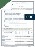 section v- verification of program completion 7