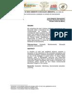 Gestao Publica Do Meio Ambiente e Educacao Ambiental Um Relato de Experiencia Sobre Monitoramento e Avaliacao No Contexto Do Licenciamento