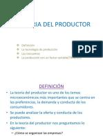 La Teoria Del Productor
