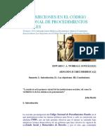 Las Objeciones en El Código Nacional de Procedimientos Penales