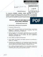 PROYECTO DE LEY QUE CREA EL DISTRITO ELECTORAL INDÍGENA