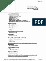 Custodial Death Report