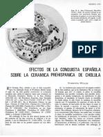 efectos de la conquista española sobre la cerámica prehispánica de Cholula