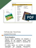 Tipos de Textos 5to