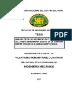 Tesis Análisis de Fallas Mecánicas en El Brazo b26xlb Del Jumbo Empernador j0129ya en La Compañia