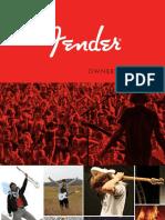 Fender ElectricGuitars Manual
