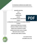 1.2. Operaciones Fundamentales Con Numeros Complejos